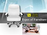 Types of Stylish Furniture- Leon Furniture Store