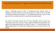Top 5 Best Drones For Sale at www