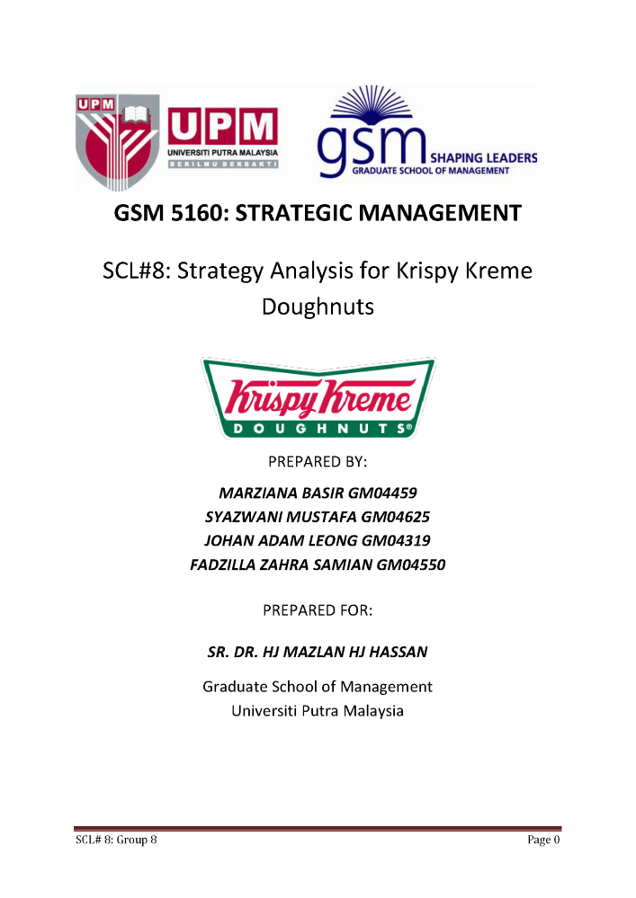 analysis of the vision mission of krispy kreme Running header krispy kreme case analysis krispy kreme is focusing to increase its profit margin via diversifying its products and services  by the end of the year the company aims to raise a profit margin of $ 15 million from its entire.