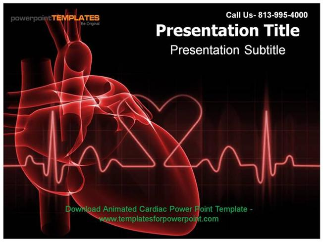 Animated cardiac powerpoint template authorstream toneelgroepblik Gallery