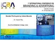 Gender Portrayals by Indian Brands