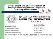 Development and Characterization of Esomeprazole Magnesium Trihydrate