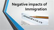 Negative impacts of Immigration