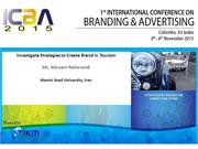 Investigate Strategies to Create Brand in Tourism