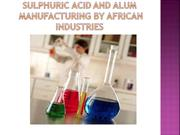 sulphuric acid and alum manufactured  by African Industries