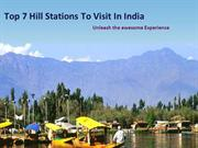 Top 7 hill stations to visit in india by HolidayHops