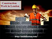 Construction Work in London