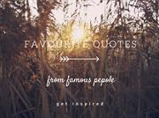 Favourite Quotes From Famous People