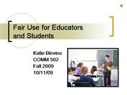 Fair Use for Educators and Students