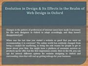 Evolution in Design & Its Effects in the Realm of Web Design in Oxford