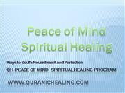 Peace of Mind Spiritual Healing