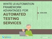 White UI Automation Framework Advantages for Automated Testing