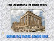 A Short History of Democracy in Greece