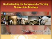 Understanding the Background of Turning Pictures into Paintings