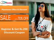 Upto 70% OFF on Women Online Shopping at Planeteves.com