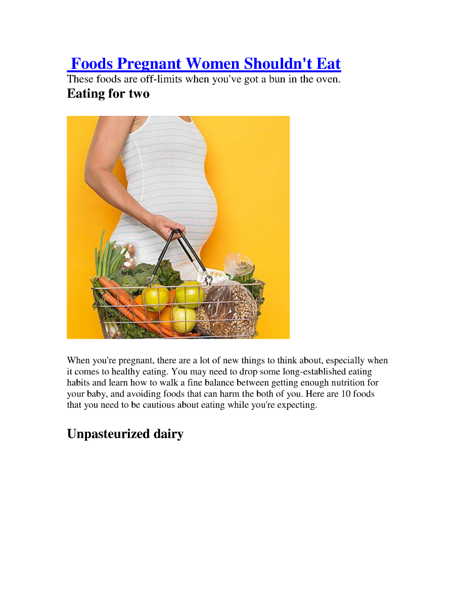 Foods Pregnant Women Shouldn't Eat |authorSTREAM