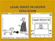 Legal Issues in Higher Ed