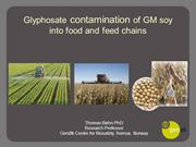 Glyphosate in GM soy Paris nov 2015 Thomas Bohn