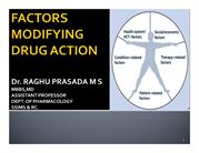 CLASS FACTORS MODIFYING DRUG ACTION NW