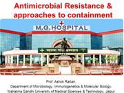 antimicrobial  resistance and approaches to containment 2015