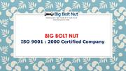 SS Fastener Manufacturers: Big Bolt Nut India