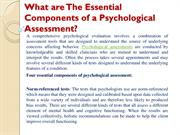 What are The Essential Components of a Psychological Assessment?