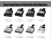 Basic Importance of Electronic Cash Registers