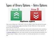 Types of Binary Options – Xetra Options