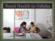 Rural Health in Odisha