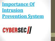 Importance Of Intrusion Prevention System