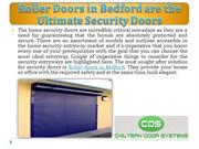 Roller Doors in Bedford are the Ultimate Security Doors