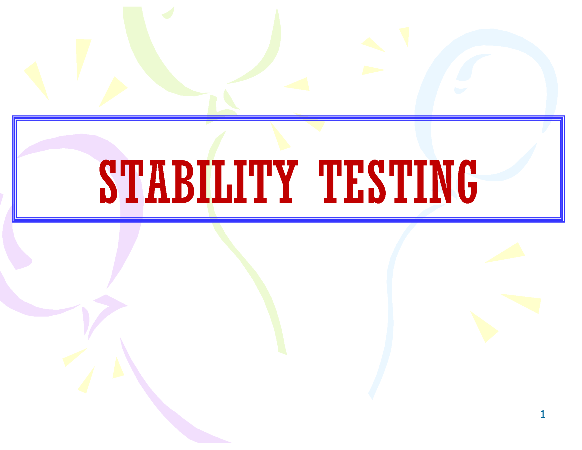 Stability testing authorstream for Stability study protocol template