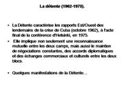 de la Dtente  la fin de l'URSS.
