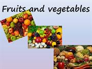 Form 3 Topic 'Fruit and vegetables''