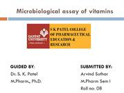 MICROBIOLOGICAL_ASSAY_OF_VITAMINS---