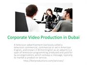 Corporate Video Production in Dubai
