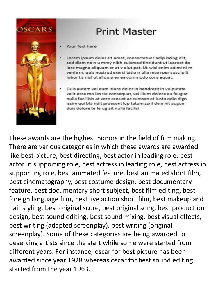 Oscar award powerpoint template and background authorstream oscar award powerpoint template and background toneelgroepblik Gallery