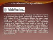 Polycarbonate Sheet Dealers in Chennai