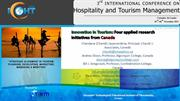 Innovation in Tourism:  Four applied research initiatives from Canada