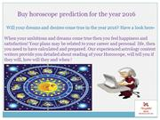 Buy horoscope predictions for the year 2016