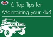 6 top tips for maintaining your 4x4