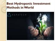 Best Hydroponic Investment Methods in World