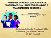HR issues in higher education