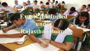 Exams conducted under Rajasthan Board