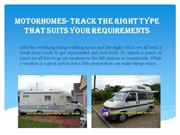 Find Second Hand Motorhomes for Sale