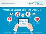 Chest and Cardiac Surgeons Email List
