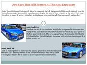 New Cars That Will Feature At The Auto Expo-2016