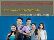 ACC 230 Academic Success / snaptutorial.com
