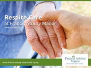 Respite Care in Monmouth County