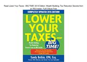 Read Lower Your Taxes  BIG